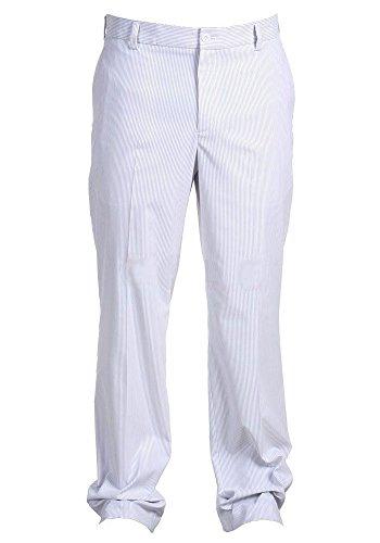 Nike Golf Men's Dri-Fit Stripe Pant, White/Wolf Grey, 35X32