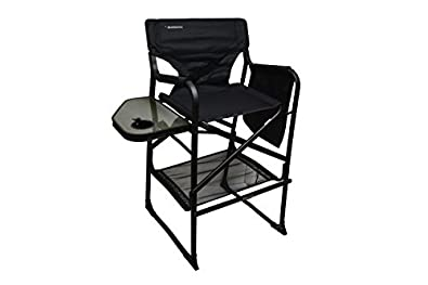 Exceptional Amazon.com: Extra Tall Folding Directors Chair Foldable Chair With Side  Table XL Design (Black): Shoes