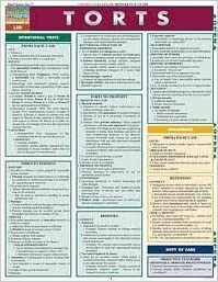 Read Torts Laminate Reference Chart (Quick Study Law) Crds edition PDF, azw (Kindle)