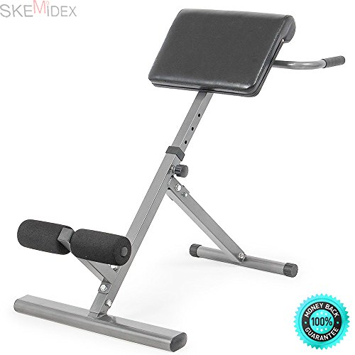 SKEMiDEX---Ab Bench Roman Chair Hyperextension Bench Gym Exercise Sit Up Bench New. Chair is made of steel and PU leather, durable and firm that you can use it for a long time by SKEMiDEX