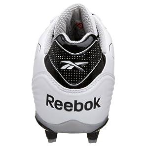 Reebok Men's NFL Burner Spd III Low M3 Football Cleat,Whtie/Black,14 M