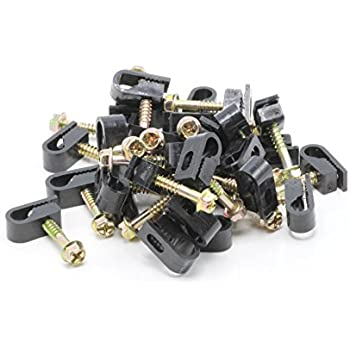 1//2 Inch Diameter 100 Per Pack 3//8 Inch Width Black Nylon Cable Clamps