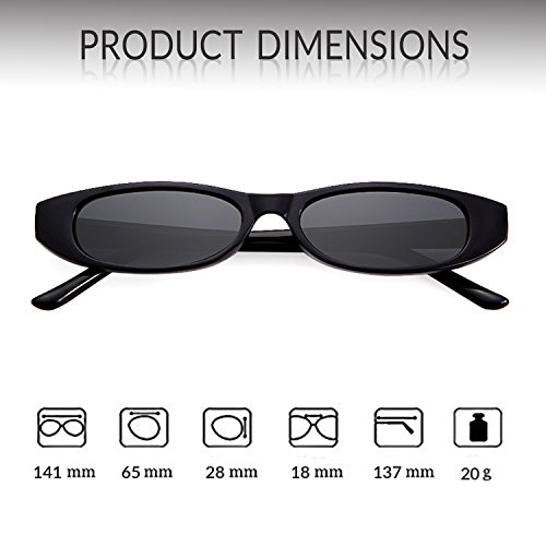 marco Negro Gris Mujeres sol Goggles lente Adewu de Clout Gafas Retro Hombres Oval wxzPv