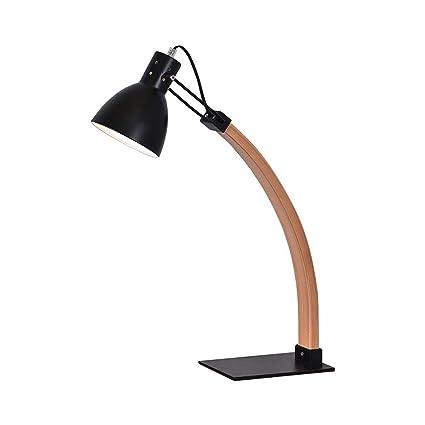 ZYY Lámpara de mesa de hierro forjado, arte minimalista ...
