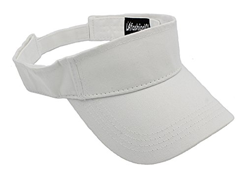 LAfashion101 Unisex Visor Lightweight & Comfortable - Ideal For Sports & Outdoor Activities - Available in Many Colors, (White Visor)
