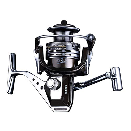 FELICIF Spinning Fishing Reel 13+1 Bearings Left Right Interchangeable Handle for Saltwater Freshwater Fishing with Double Drag Brake System (Size : JS6000)