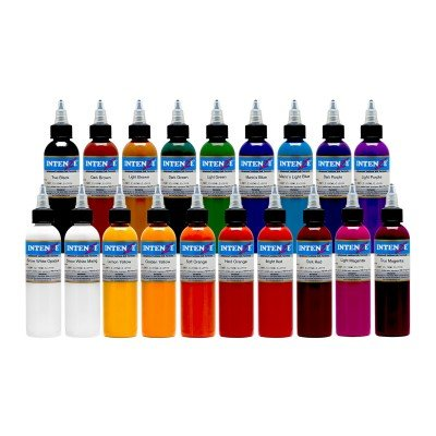 Intenze Color Tattoo Ink Sets 1 oz (19 Color Tattoo Ink Set)