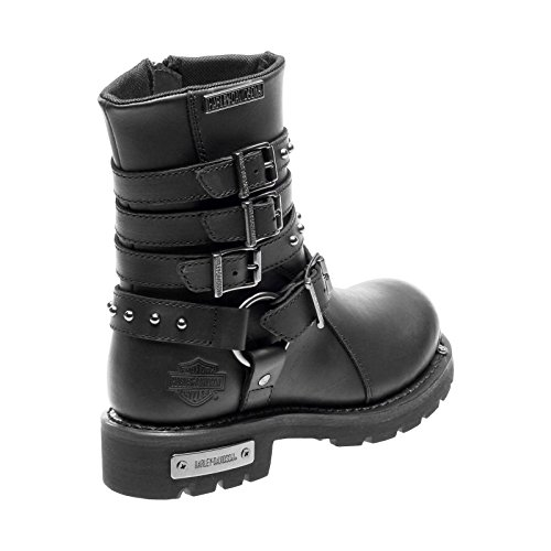 Black Davidson Eddington Womens Boots Leather Harley qapzwfxRx