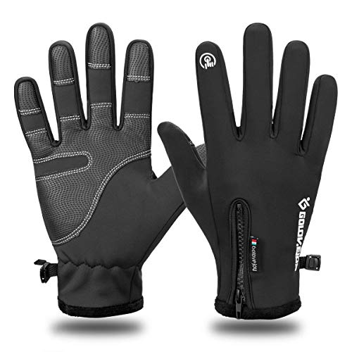 LATEC Fahrradhandschuhe, Touchscreen-Handschuhe Wasserdicht & Winddicht Wärmehandschuhe rutschfest Warme Winterhandschuhe Outdoor Laufen Klettern Skifahren Handschuhe für Damen und Herren