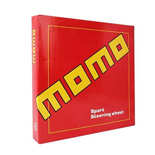 Wewoo Momo Voiture modifi/ée Course Sport Noir Horn Bouton Volant diam/ètre 32cm