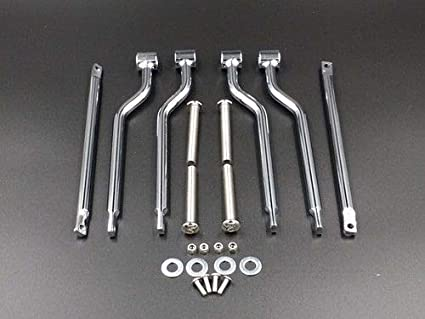HANSWD Saddlebag Support Bars Brackets For HONDA SUZUKI YAMAHA KAWASAKI TRIUMPH Chrome