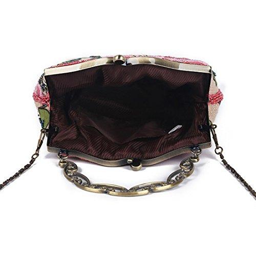 YYW Vintage Clutch Bag - Cartera de mano para mujer amarillo