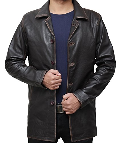 Decrum Dean Wichester Supernatural Antique Brown Color Leather Jacket Coat XXL