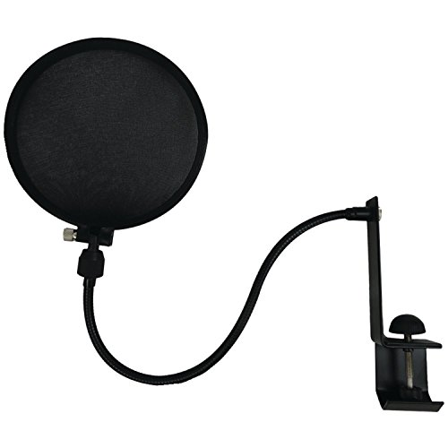 Nady SPF-1 6-Inch Clamp On Microphone Pop Filter with Flexible Gooseneck and Metal Stabilizing Arm(2018 Upgraded Model of MPF-6)