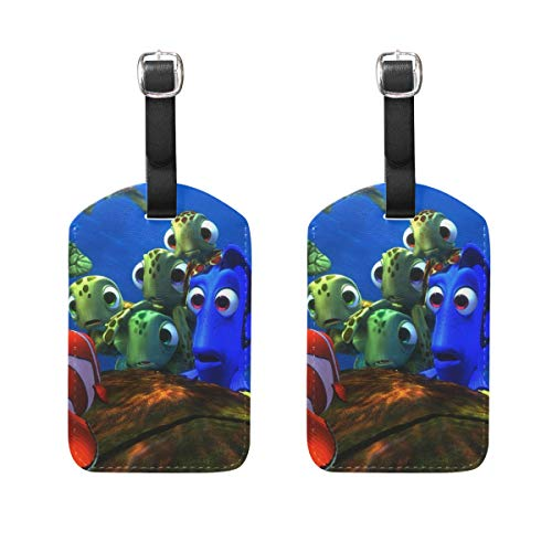 Luggage Tags Underwater Sea Ocean Tropical Fish Mens Tag Holder Kids Bag Labels Traveling Accessories