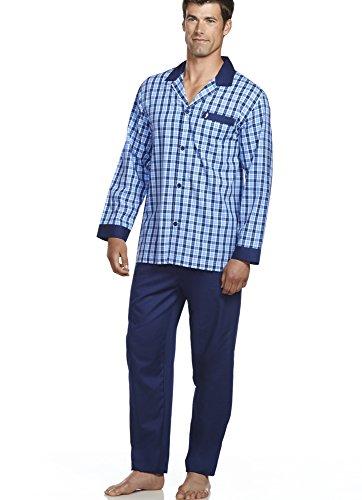 Jockey Men's Sleepwear Woven Pajama Set, Blue/White Plaid, ()
