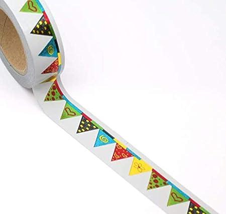 Lámina de oro banderas/Banderines Washi cinta de carrocero: Amazon.es: Hogar