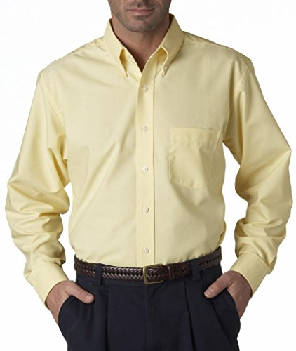 UltraClub Mens Classic Wrinkle-Free Extended Oxford Shirt