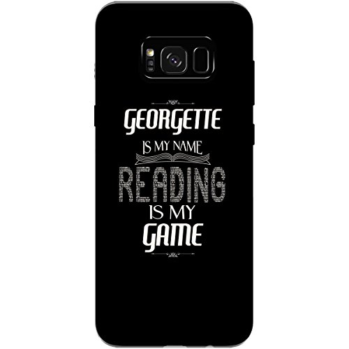 GEORGETTE My Name Reading My Game Love to Read Library - Phone Case Fits Samsung S8+ Black ()