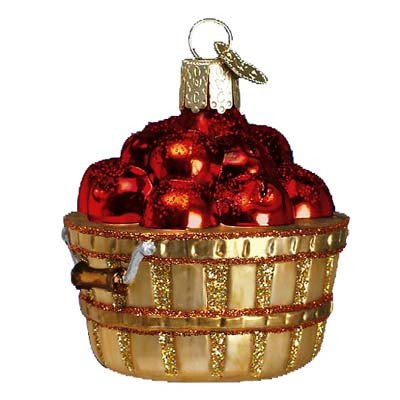 Old World Christmas Apple Basket Glass Blown - Ornaments Tree Christmas Apple