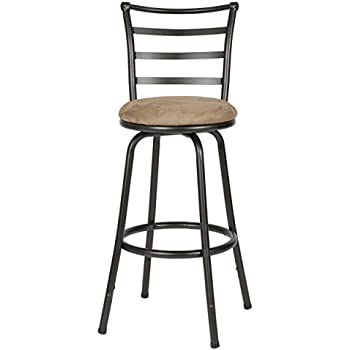 Roundhill Furniture Round Seat Bar/Counter Height Adjustable Metal Bar Stool Metallic  sc 1 st  Amazon.com & Amazon.com: Bronze Finish Scroll Back Adjustable Metal Swivel ... islam-shia.org