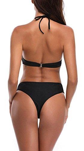 Black bagno Monikini da cinturino sexy Fasciatura con Costume alla Kunliyin lacci Bikini da donna con caviglia HE6Zqnw1
