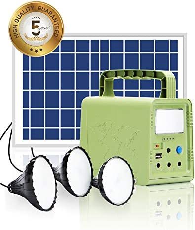 WAWUI Portable Power Station 84Wh with Solar Panel, Generator Kit with Flashlights for Home Emergency Backup Power, Camping lights with Battery, USB DC Outlets, for Travel Fishing Hunting