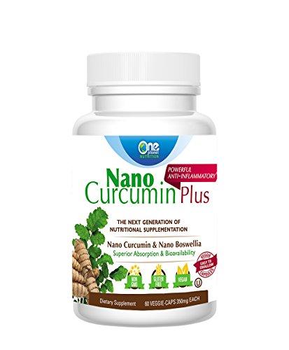 Nano Curcumin Plus - Powerful Anti-inflammatory, Antioxidant, & Pain Reliever (60 Capsules)