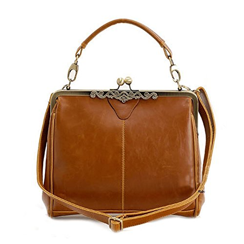 - Catkit Vintage Womens Europe Tote Handbag Ladies Shoulder Crossbody Bag Brown