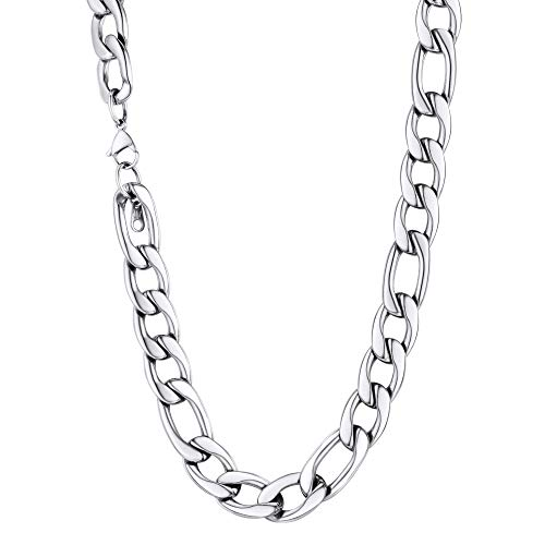 U7 Jewelry Men Chunky Chains Stainless Steel Wear Alone or with Pendant Preminum Fashion Jewelry 12mm Figaro Chain 18