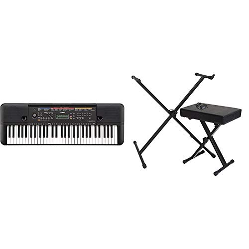 Yamaha PSR-263 Portable Keyboard Bundle with Stand, Bench and Power Supply