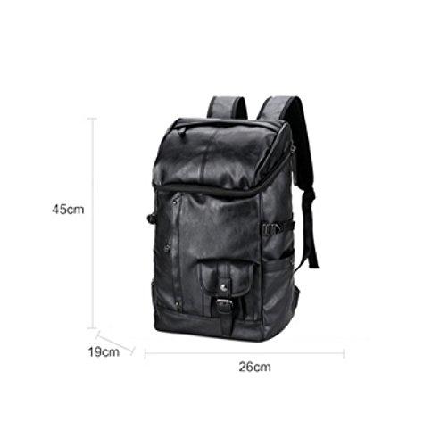 Business Pu Bag Men's Multi purpose Travel Black Backpack Laidaye Shoulder Leisure U41Oc6qqK