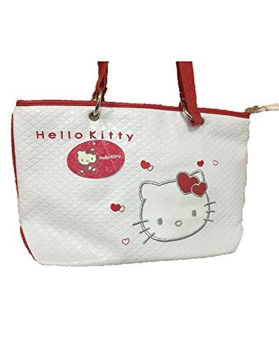 Borsa hello Kitty Bianca rossa 2 manici Ufficiale Sanrio *05606