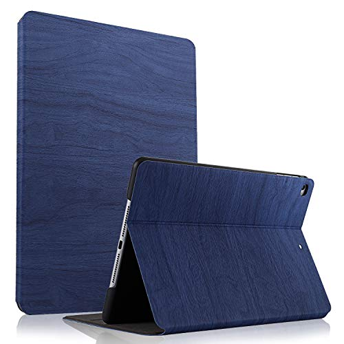 HBorna iPad 9.7 Case for iPad 2018/2017, iPad Air 2/Air, Tree Texture, Multi-Angle Viewing Stand, Smart Cover Auto Sleep/Wake Function for Apple iPad 9.7 inch 2018/2017,iPad Air/Air 2, Navy Blue