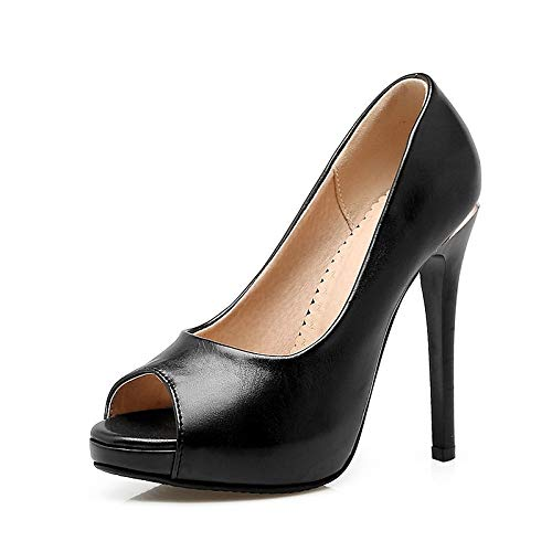 Black ZHZNVX Evening Black Wedding Heels PU Women's Party White amp; Pink Polyurethane Spring Basic Pump Summer Heel Peep amp; Toe Stiletto Shoes rrSqwRCZ