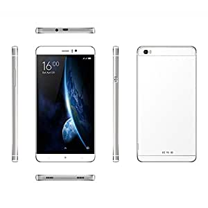 "Hanbaili Unlocked Cell Phones Android 5.1 - 6"" IPS Display - 4800mAh Battery - Quad-Core 512MB + 4GB - Dual SIM Smartphone 3G WCDMA / 2G GSM White"