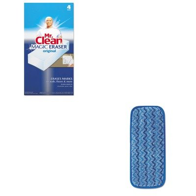 KITPAG82027RCPQ820BLU - Value Kit - 11quot; Microfiber Wall/Stair Wet Pad (RCPQ820BLU) and Mr. Clean Magic Eraser Foam Pad (PAG82027) by Rubbermaid
