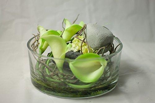 Runde Glasschale Mit Calla Tischgesteck Tischdeko Mit Kunstlichen