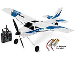 Top Race 3 Channel Remote Control Airplane, The TR-C285 rc plane was designed Ready To Fly (RTF) for training for new pilots and intermediate pilots. The Top Race Trainer TR-C285 remote control plane is a Full 3 Channel (Elevator, Rudder, Thr...