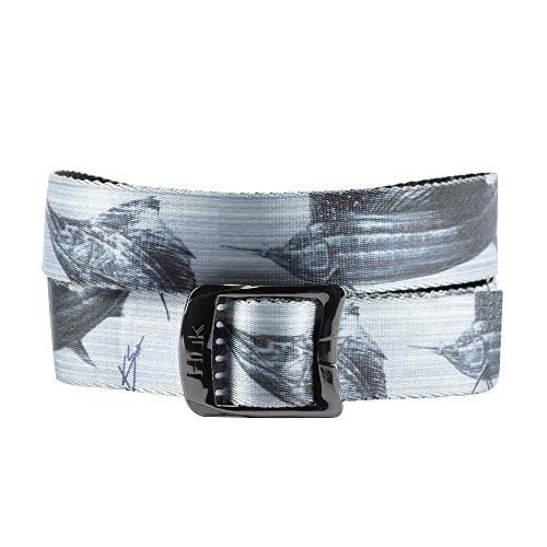 - HUK Printed Web Belt | Light on Sail | 100% Nylon | Quick Dry | 52