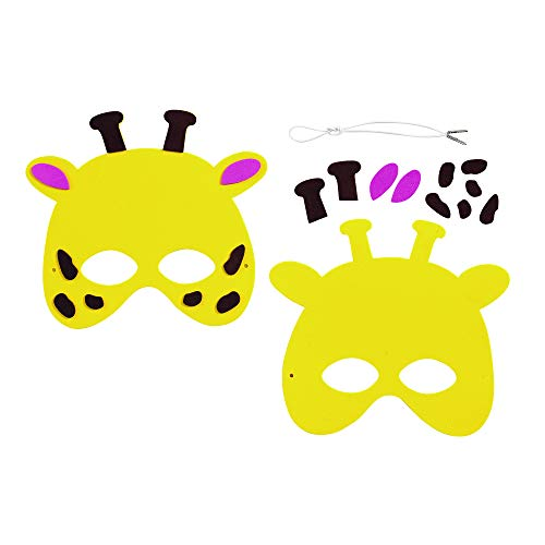4a9781d6 Amazon.com: Colorations WILDMASK Wild Animal Foam Masks Kit for 12 (Pack of  12): Industrial & Scientific