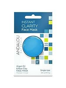 Andalou Naturals Instant Clarity Argan Oil & Blue Clay Mask Pod, 0.28 Ounce