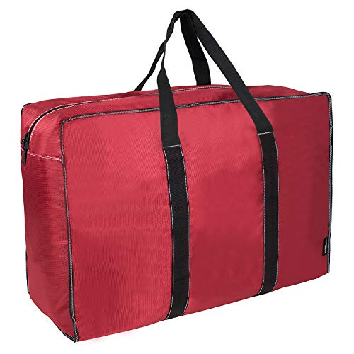 DOKEHOM DKA1015RDXL 130L Thickened X-Large Storage Bag (4 Colors), Fabric Clothes Bag, Ultra Size Under Bed Storage, Moisture Proof (Red, XL) by DOKEHOM