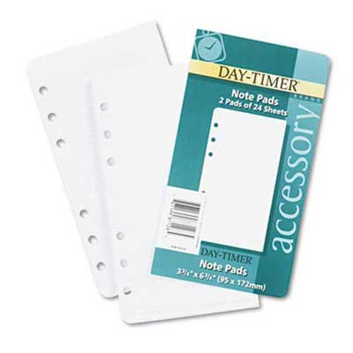 Day-Timer Lined Note Pads for Organizer, 3 3/4 x 6 3/4