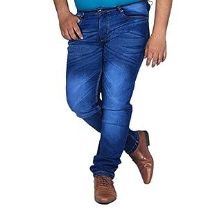 L,Zard Slim Fit Blue Stretchable Jeans for Men's Jeans for Blue Jeans for Men,Men's Blue Jeans