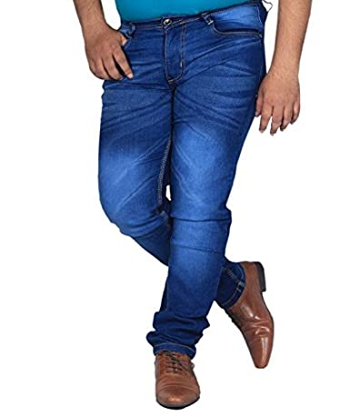 L,Zard Slim Fit Blue Stretchable Jeans for Men's Jeans for Blue Jeans for Men,Men's Blue Jeans Men's Jeans at amazon