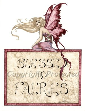 Blessed By Faeries Amy Brown Open Edition 8.5