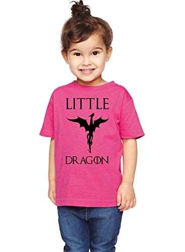 Brain Juice Tees Little Dragon Game Of Thrones Unisex Toddler Shirt (4T, Vintage Hot Pink) (Dragon Girl Game Of Thrones)