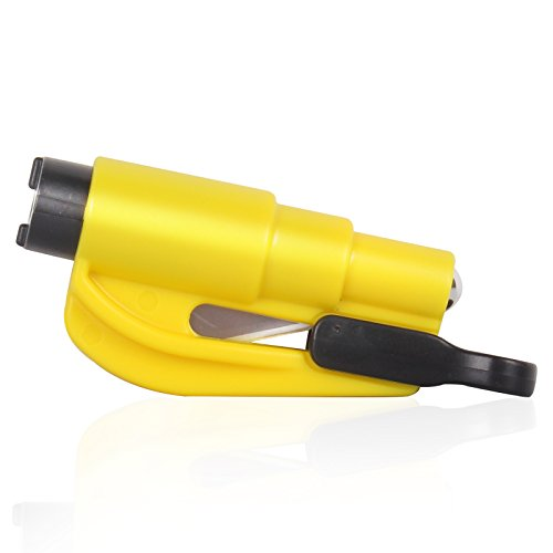 Roleadro Scheibenzertrümmerer Auto Window Breaker Gurtschneider Rettungswerkzeug in Gelb