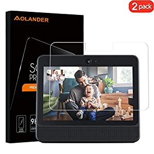 Aolander [2-Pack] 2.5D Round Edge High Definition Tempered Glass Screen Protector for Facebook Portal Smart Video (10.1 Inch)